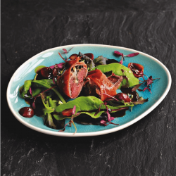 Sussex Reserve, Wood Pigeon Saltimbocca and chef Peter Gladwin